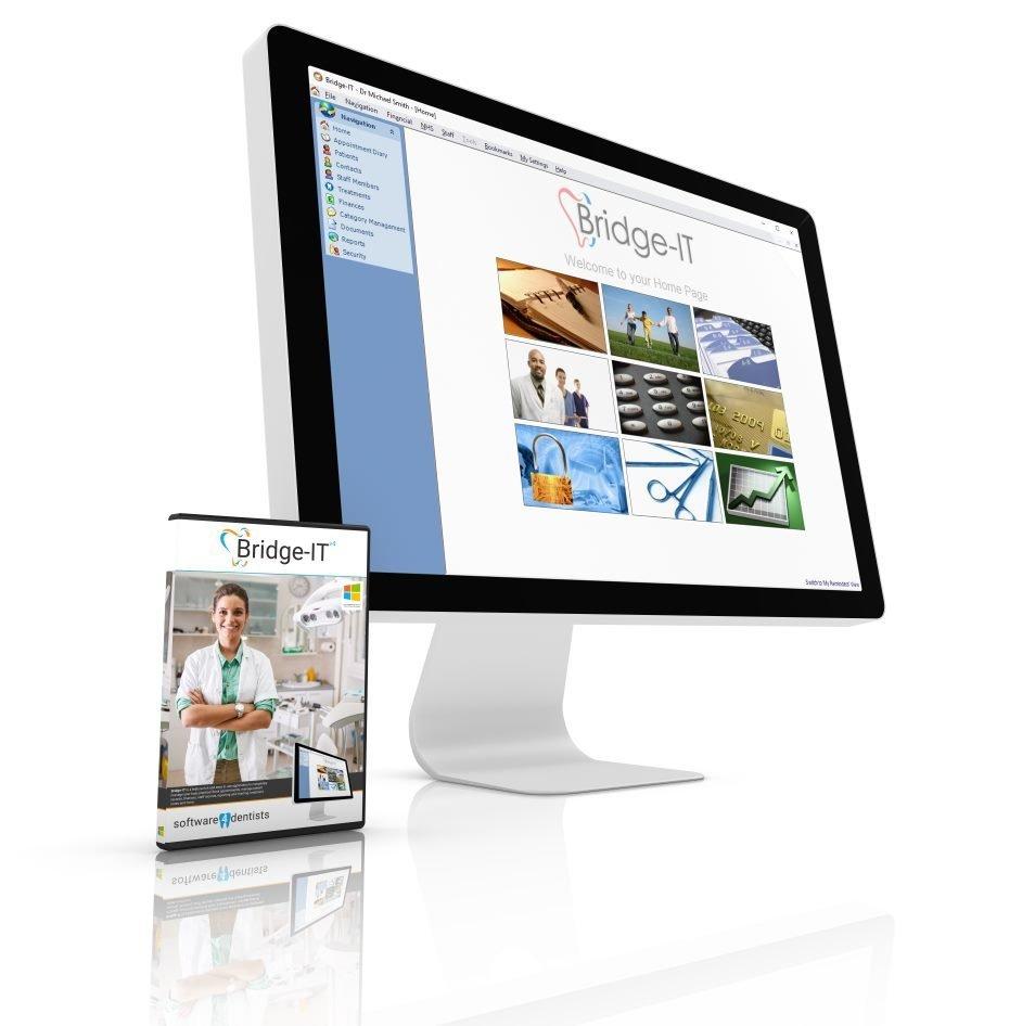 Dental Software Box & Monitor- Software 4 Dentists