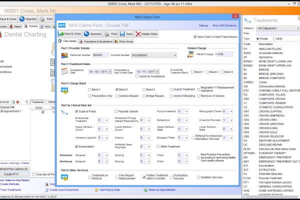 Dental Software Screenshot
