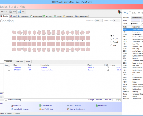 Software For Dentists - Dental Charting