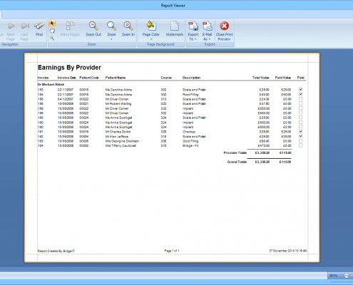 Software For Dentists - Earnings Report