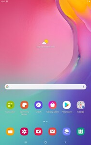 Tablet Home Screen